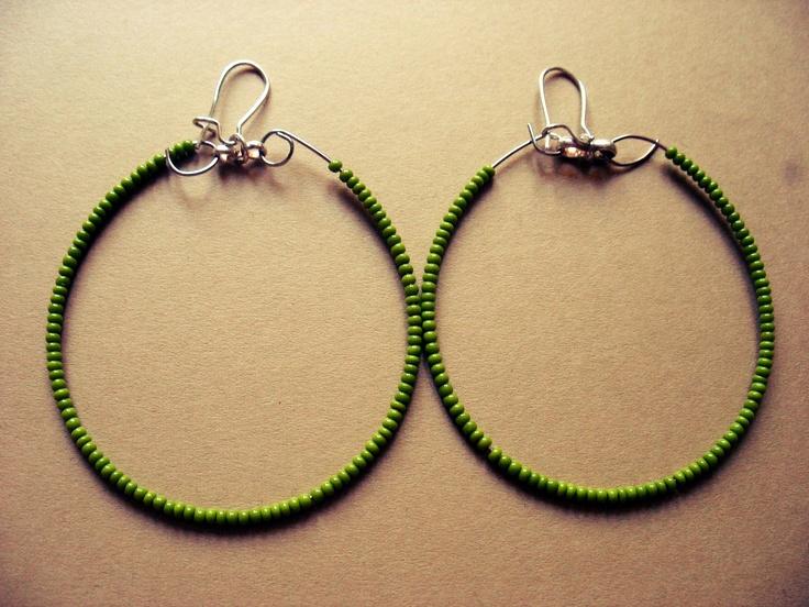 zelené korálky, afro háčky, ketlvací kleště, kroužky