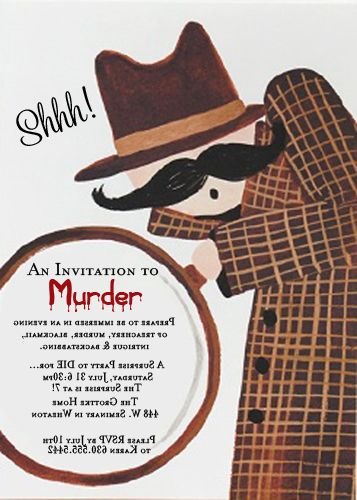 70 best murder mystery party images on pinterest 1920s party party invitations murder mystery slueth rf slueth stopboris Images