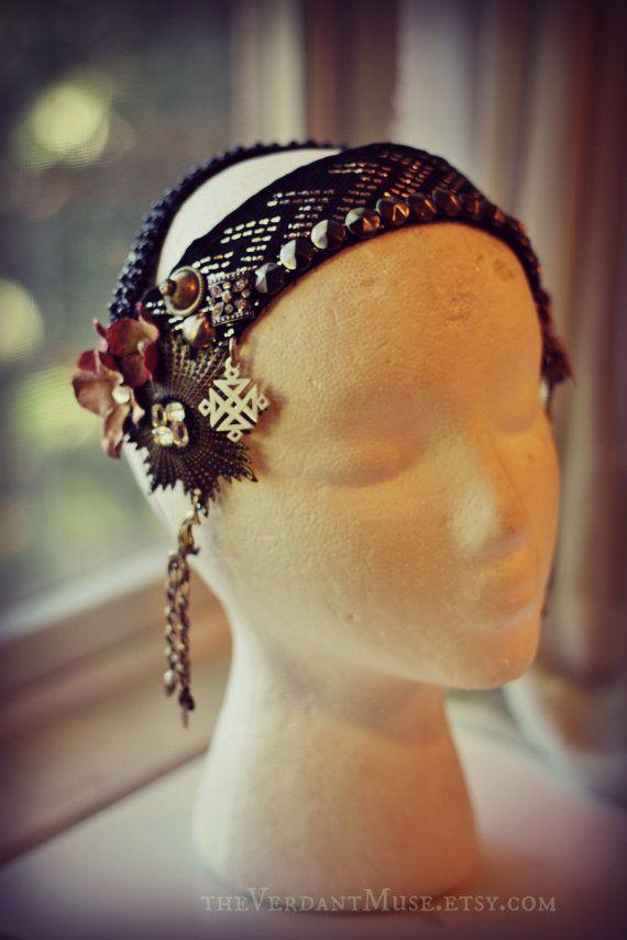 Custom Assuit Headdress- Assiut Asuite Tribal Fusion Vaudeville Belly Dance Tribal Bellydance Gatsby