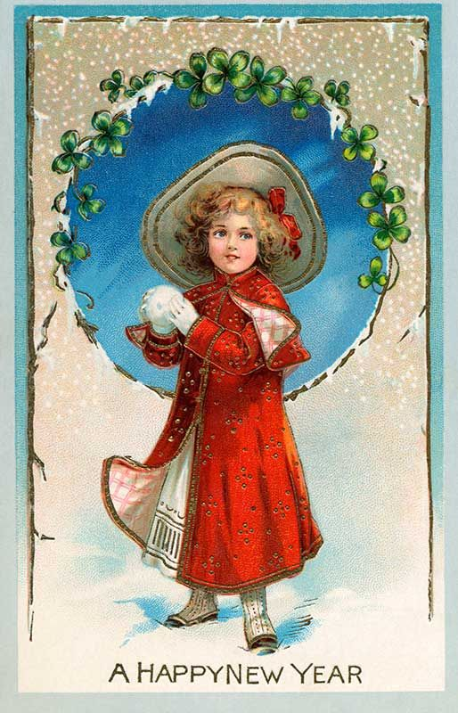 a happy new year vintage card circa 1905 paper ephemera 1 vintage happy new year vintage cards vintage christmas