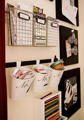 Wall Organization, when there is no room for a dedicated office space.