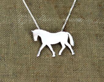 Collar de caballo islandés mano de plata esterlina plata