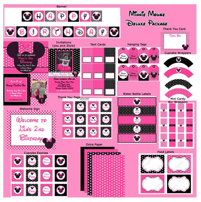 82 best free printables parties mickey mouse and minnie images on pinterest. Black Bedroom Furniture Sets. Home Design Ideas