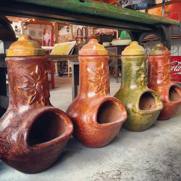 Houston clay and metals on pinterest for Mexican chiminea
