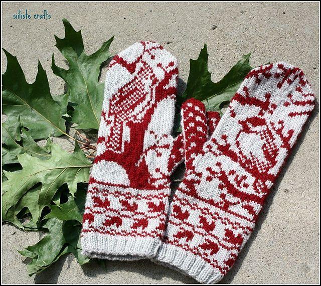 Ravelry: Siiliste's Woodland mittens.