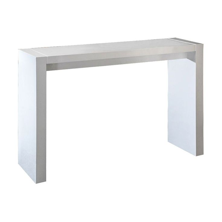 Velia High-Gloss White Contemporary Bar Table - Style # 8X633