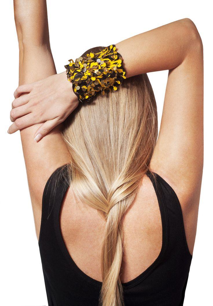 TRASH4FLASH Statement Bracelet // STARLET Collection // PHOTOGRAPHY & EDITING Albina Shumkova // MAKE-UP Stella Gioka // MODEL Anna Bistrova // View & Buy @ www.trash4flash.bigcartel.com // www.trash4flash.com // #trash4flash #fashion #jewellery #bracelet #FW1314 #collections