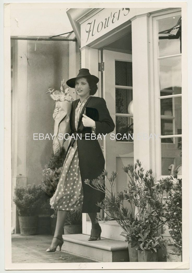 KAY FRANCIS AT FLOWER SHOP VINTAGE PHOTO BY MADISON LACY 1938 | eBay