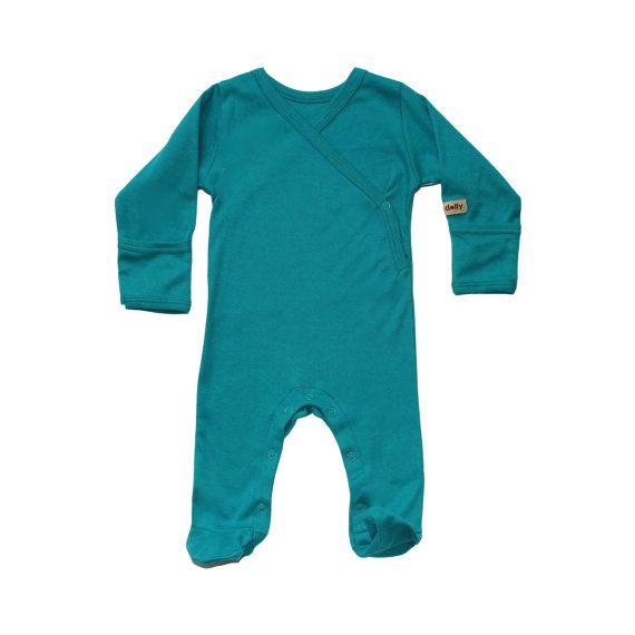 Organic Baby Clothes - Baby Pyjamas - Baby Pajamas - Blue, Natural, Pink or Smokey Black on Etsy, $27.12