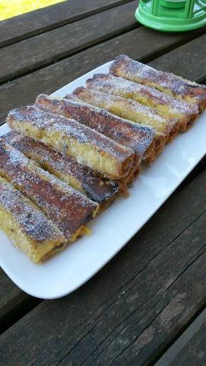 Petits roulés de pain perdu spéculoos / La Plancha ENO