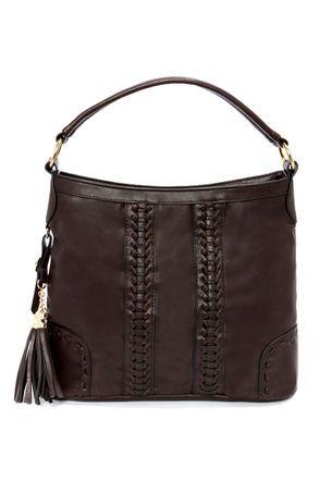 Tassels in the Air Brown Handbag at Lulus.com!