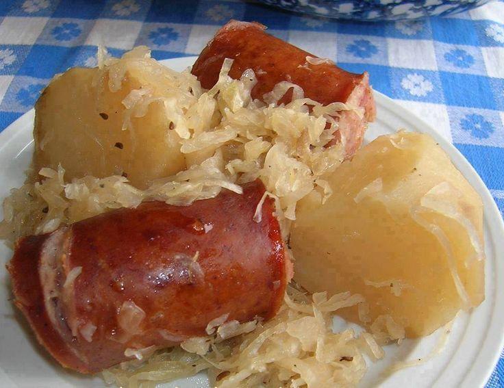 Polish sausage , Sauerkraut and potatoes ( CROCKPOT ) – Tomato Hero