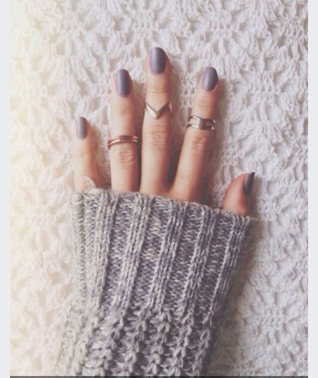 Nail polish: Elexa cashmere by nails ink, from Sephora   Rings: Brandy Melville