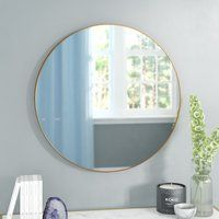 Alexandrina Eclectic Framed Round Wall Mirror