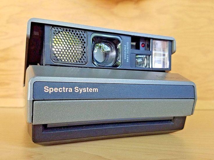 Polaroid Spectra System Instant Film Camera Vintage Quintic Lens F10/125mm Strap #Polaroid