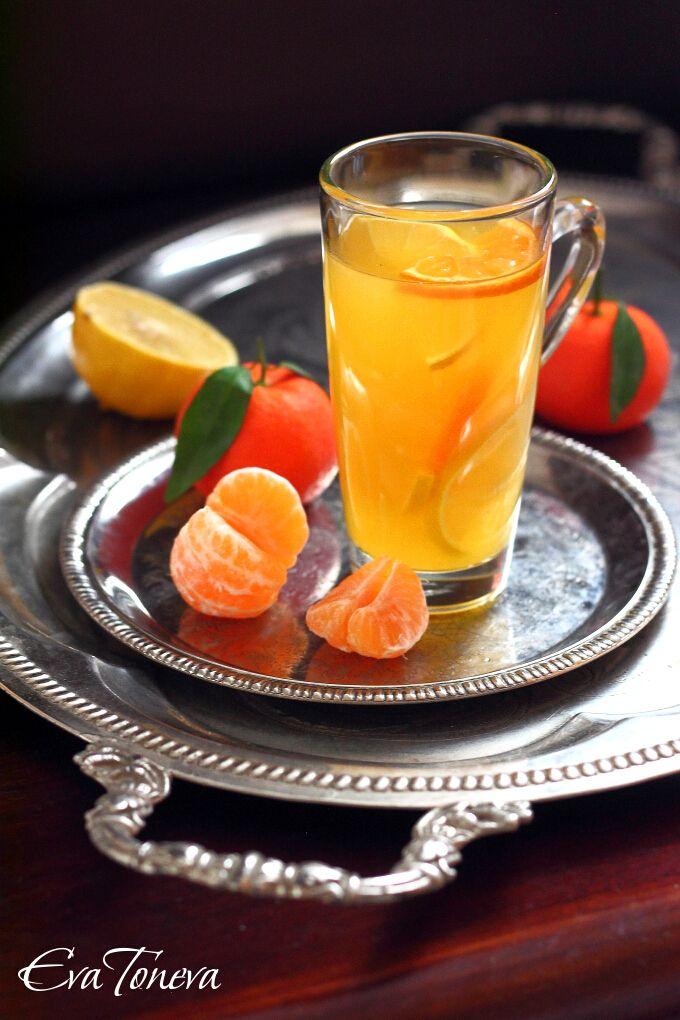 Mandarin and ginger syrup