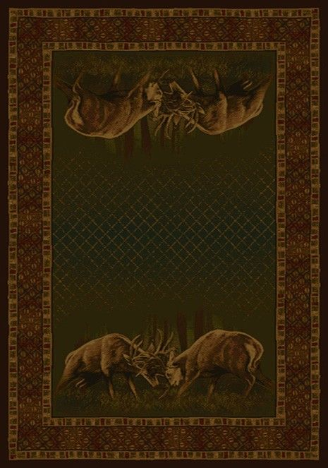 Buckwear Buckwear Winner Takes All Whitetail Rustic Area Rug - 5 Sizes Available