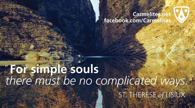 God's Garden - Order of Carmelites - quotation by St Therese de Lisieux