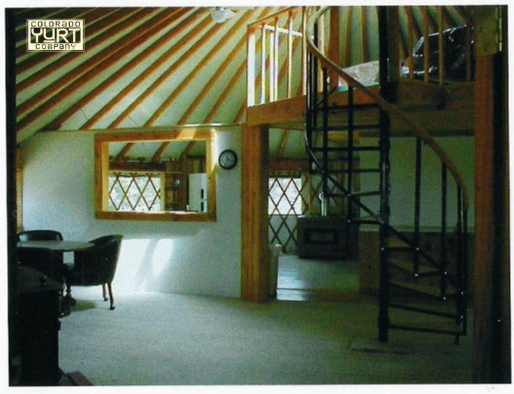 Best Spiral Stairs To A Loft Yurt Interior Yurt Home 400 x 300