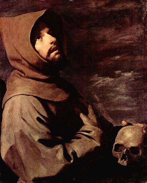 Le nouveau Pape François, inspiré par une figure de l'art Saint François d'Assise.    Francisco de Zurbarán, 1658, Alte Pinakothek, Munich