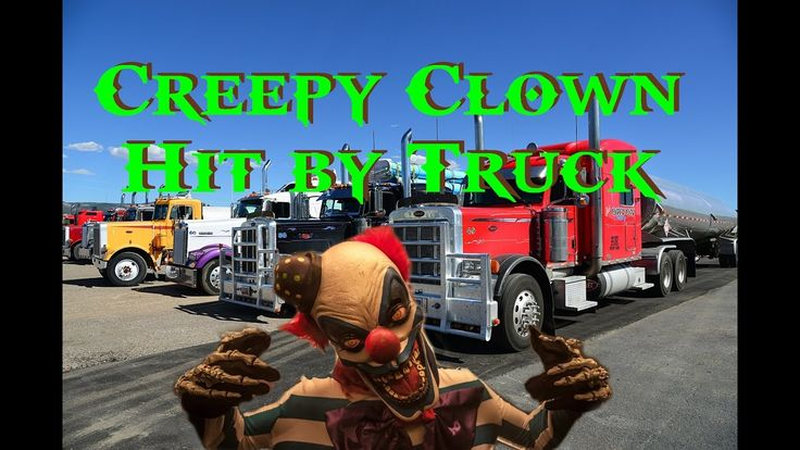 Recently in Newcastle Aus a Scary Clown was run over by a Truck. Viewer Discretion is advised...