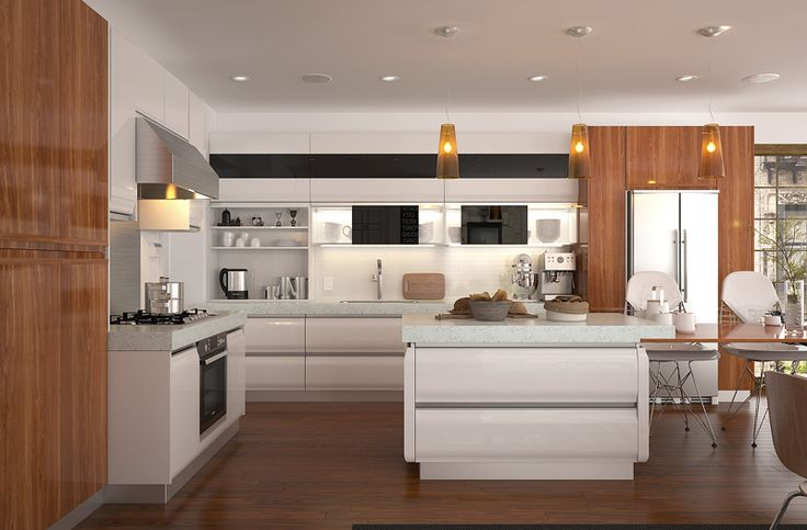 In order to expand kitchen space, it is a local style to add a kitchen island, which could serve as a preparation area. Putting some pot plants on the island to add a fresh look to the kitchen is a local feature.