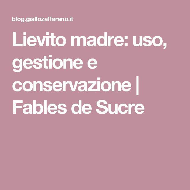 Lievito madre: uso, gestione e conservazione | Fables de Sucre