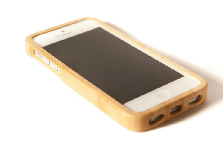 Plain bamboo case for iPhone 5