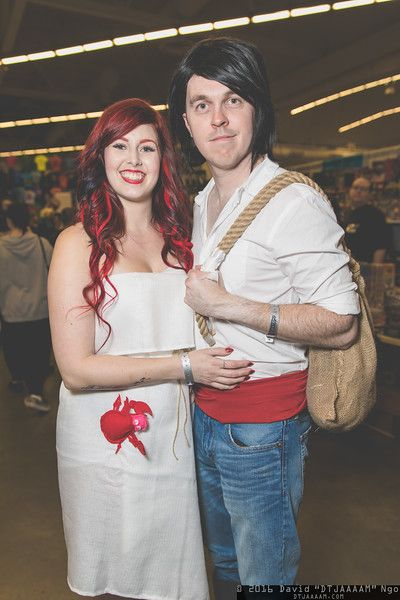Ariel and Prince Eric (Little Mermaid) #cosplay at Fan Expo Vancouver 2016, Photo by DTJAAAAM