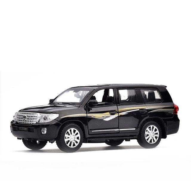 White 1:32 Scale Toyota Land Cruiser Prado Police Car Diecast Model Light  Sound