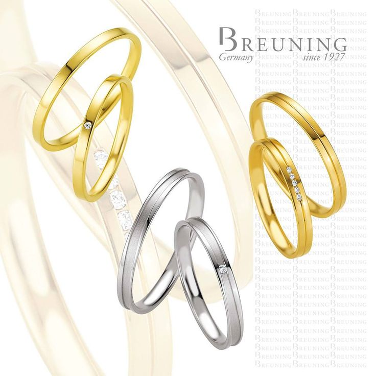 Alianças Breuning Ouro branco e ouro amarelo (para saber mais detalhes entre em contacto connosco ecommerce@lojasgois.com)