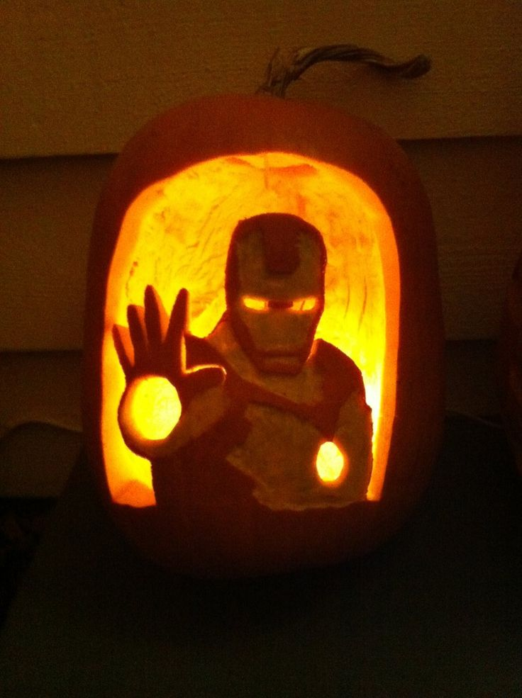 Iron Man Pumpkin! by flourchild.deviantart.com on @deviantART