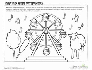 free country fair coloring pages | County Fair Coloring Page | County fair crafts, State fair ...