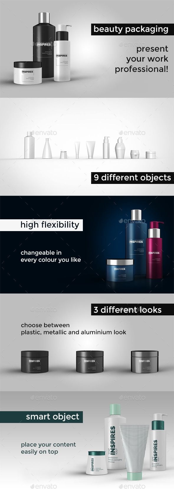 Beauty Packaging Mockup - Beauty Packaging