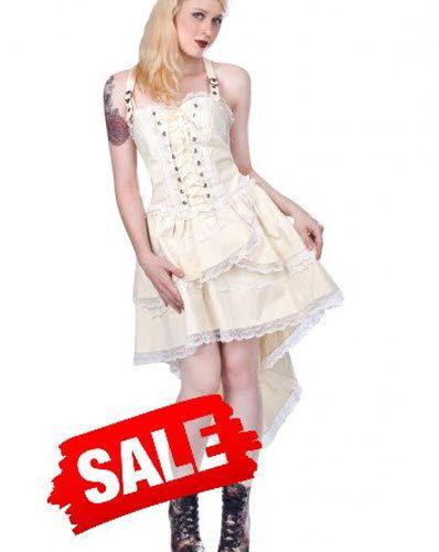 Steampunk Lolita Kleid in creme. 99,-- €