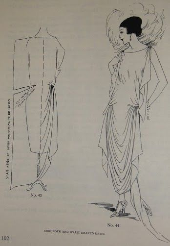 Easy Vintage Dress Pattern, 1920s Dress Pattern