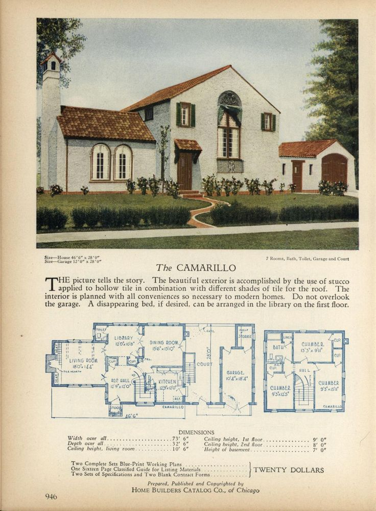 Spanish Bungalow House Plans