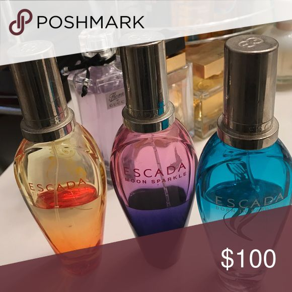 Used fragrances moon sparkle and born in paradise, each bottles was originally 25ml Escada Other