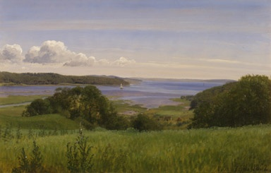 P.C. Skovgaard (1817-1875): Udsigt over Vejle Fjord, 1852