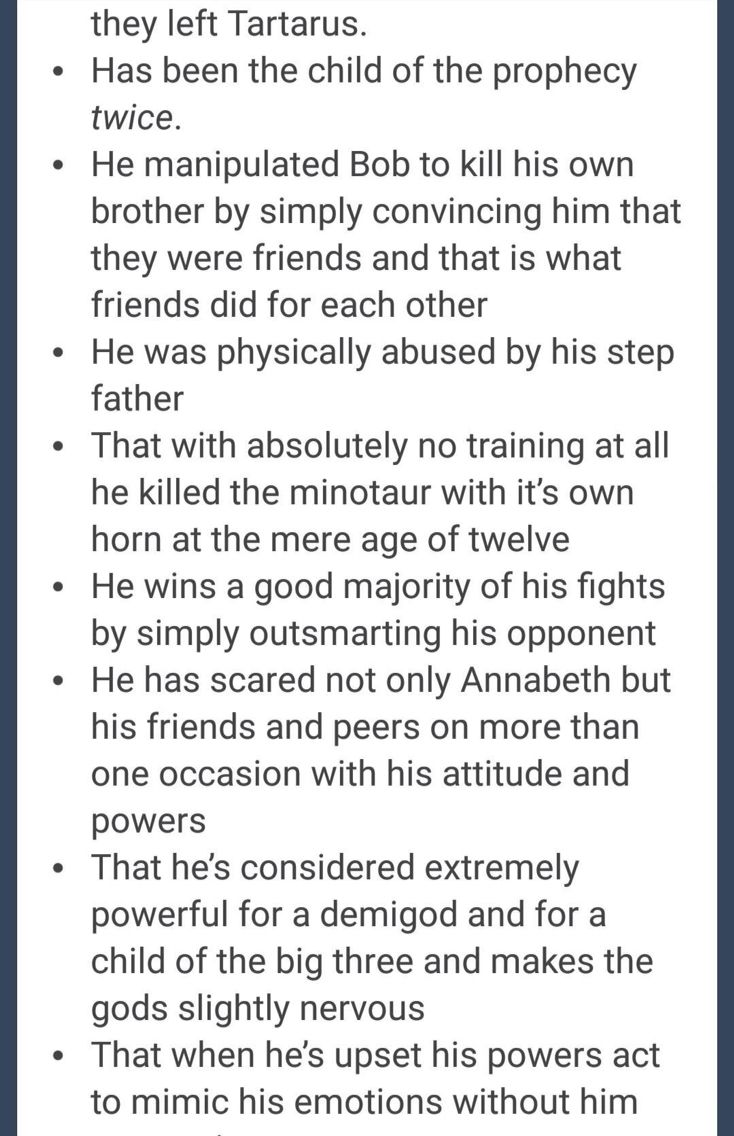 The real Percy Jackson (part 3)