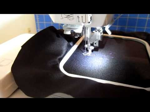 embroidering with a sewing machine