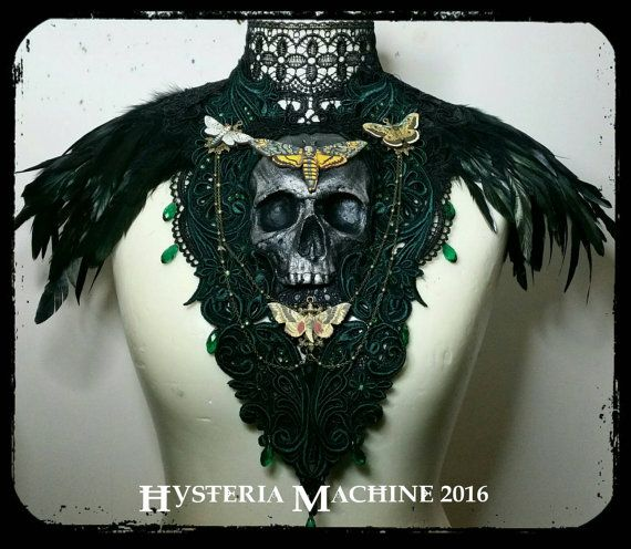 Forest of Death Emerald Moth Chest Piece by HysteriaMachine