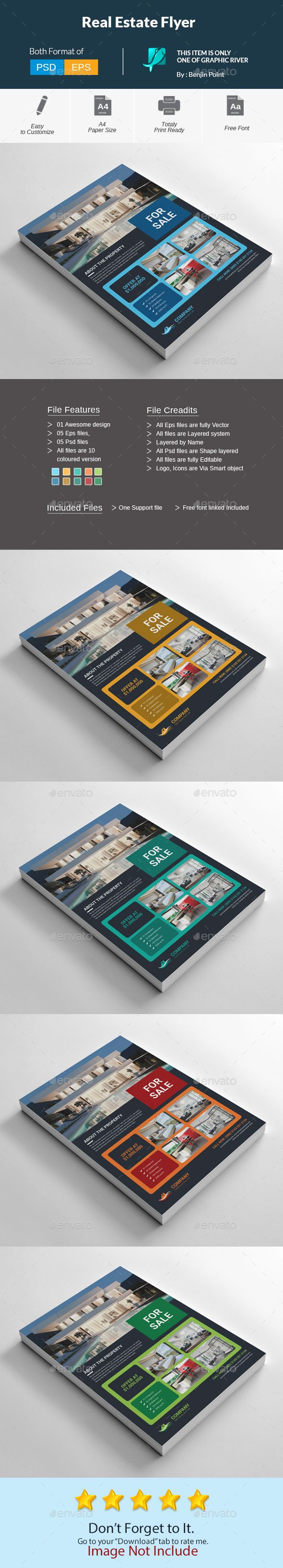 Real Estate Flyer by Benjinpoint Real Estate Flyer Very Powerful & Professional Corporate Clean, Creative & Modern Business Flyer for Any kinds of Business Use.Fe