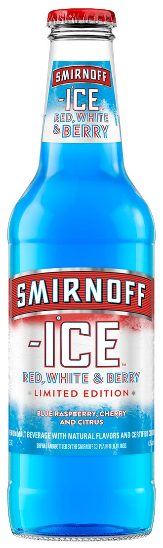 Smirnoff Ice Red, White, and Berry - Limited Edition - Blue Raspberry, Cherry, and Citrus - Premium Malt Beverage With Natural Flavors and Certified Colors