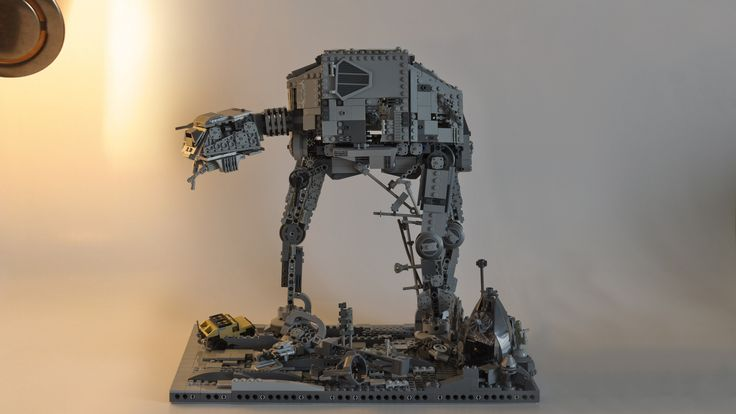 """LEGO AT-AT Abandoned Refuge 