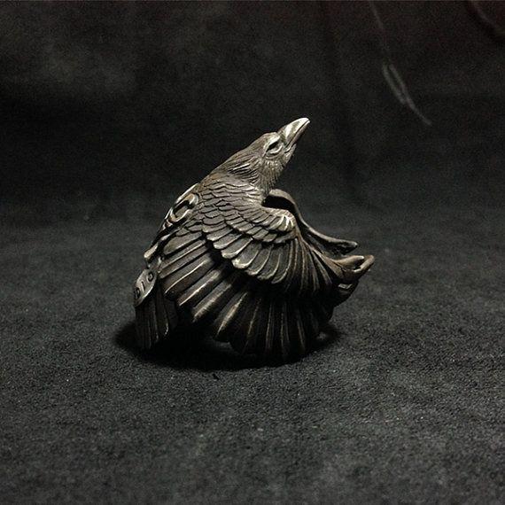 925 Sterling Silber Ring Rabe von BroncoManor auf Etsy