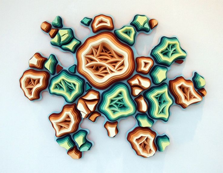 hand cut paper microorganisms by charles clary