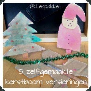 5 zelfgemaakte versieringen voor in de kerstboom :)