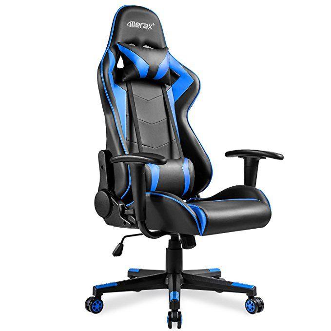 Merax High Back Gaming Chair Ergonomic Design Office Chair Racing