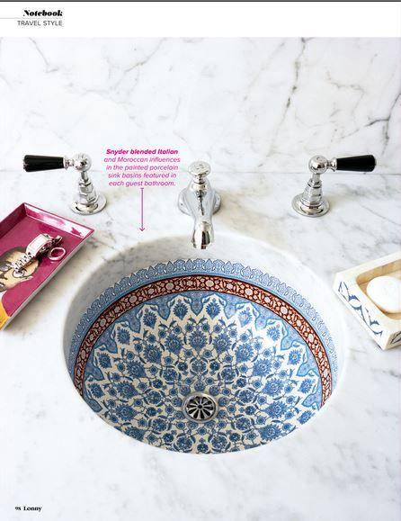 amazing moroccan sink via @Lonny Kronen Magazine
